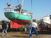 Boot zu Wasser in Geversdorf